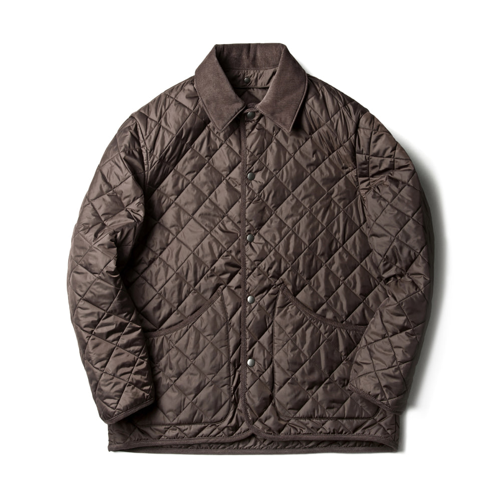 VOL 3. SN26 DIAMOND QUILTED JACKET (BROWN)ESFAI(에스파이)